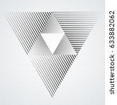 vector hipster triangle...   Shutterstock .eps vector #633882062