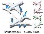 vector isometric passenger... | Shutterstock .eps vector #633894536