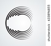 lines in circle form . vector... | Shutterstock .eps vector #633896855