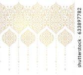 vector vintage seamless border  ... | Shutterstock .eps vector #633897782