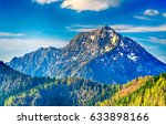 mountain peak landscape | Shutterstock . vector #633898166