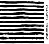 hand drawn brush stripes and... | Shutterstock .eps vector #633905915