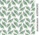 beautiful green tropical cute...   Shutterstock . vector #633906392