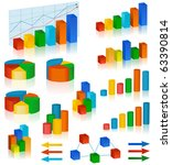 business chart collection | Shutterstock .eps vector #63390814