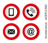 contact buttons set   email ...   Shutterstock .eps vector #633911582