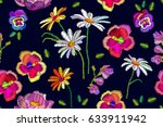 boho chic. seamless floral...   Shutterstock .eps vector #633911942