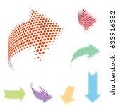 set of vector arrow icons.... | Shutterstock .eps vector #633916382