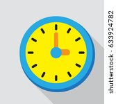 icon symbol clock flat design... | Shutterstock .eps vector #633924782