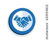 icon symbol handshake design... | Shutterstock .eps vector #633924812