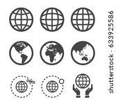 earth globe icon | Shutterstock .eps vector #633925586