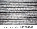 traditional wooden shingles... | Shutterstock . vector #633928142