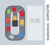 modern travel bags for the... | Shutterstock .eps vector #633932708