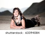 beautiful woman outdoor portrait | Shutterstock . vector #63394084