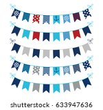 set of nautical themed vector... | Shutterstock .eps vector #633947636