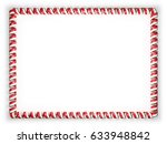 frame and border of ribbon with ... | Shutterstock . vector #633948842