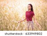 beautiful brunette lady in the... | Shutterstock . vector #633949802