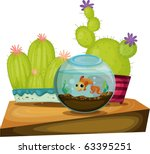 Vector Of Fish Bowl And...