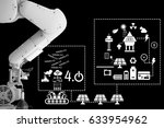 industry 4.0 concept of solar... | Shutterstock . vector #633954962