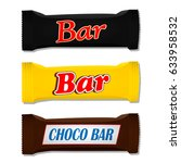 chocolate bar. packing....   Shutterstock .eps vector #633958532