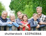 portrait of happy family... | Shutterstock . vector #633960866