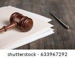 gavel.   Shutterstock . vector #633967292