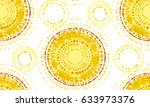 abstract sunny seamless pattern ... | Shutterstock .eps vector #633973376
