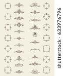 retro rosette and victorian... | Shutterstock .eps vector #633976796