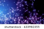 plexus fantasy abstract... | Shutterstock . vector #633982355