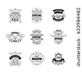 spring sale badge design ....   Shutterstock .eps vector #633984482