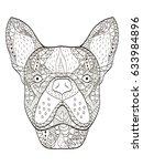 bulldog head animal coloring...   Shutterstock .eps vector #633984896