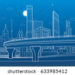 automobile highway ... | Shutterstock .eps vector #633985412