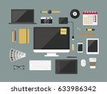 graphic designer items and... | Shutterstock .eps vector #633986342