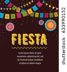 mexican fiesta background ... | Shutterstock .eps vector #633990152