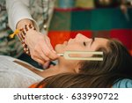 tuning fork in sound therapy | Shutterstock . vector #633990722