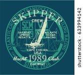 atlantic ocean sailing regatta... | Shutterstock .eps vector #633994142