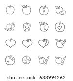 fruit drawing. apple. sketch. | Shutterstock .eps vector #633994262