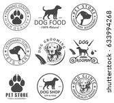 set of vector dog logo and... | Shutterstock .eps vector #633994268