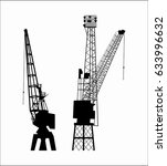 vector   crane building crane ... | Shutterstock .eps vector #633996632