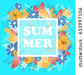 summer poster  banner  flyer.... | Shutterstock .eps vector #633997106