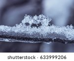close up of frozen branch of... | Shutterstock . vector #633999206
