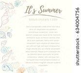 summer paradise holiday marine... | Shutterstock .eps vector #634004756