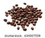 coffee beans. isolated on white ... | Shutterstock . vector #634007558