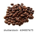 coffee beans  isolated object...   Shutterstock . vector #634007675