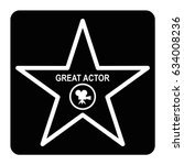 walk of fame star black icon.... | Shutterstock .eps vector #634008236