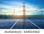 solar power station electric ... | Shutterstock . vector #634014362