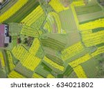 Stock photo aerial photography bird eye view of land farmland and nature landscape 634021802