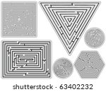 mazes collection against white... | Shutterstock .eps vector #63402232