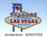 welcome to fabulous las vegas... | Shutterstock . vector #634027928
