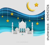 islamic beautiful design... | Shutterstock .eps vector #634042526