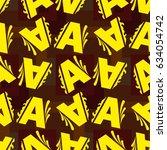 letters  pattern. background... | Shutterstock .eps vector #634054742